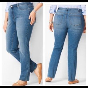 Talbots 20W High Waist Straight Leg Flawless Jeans
